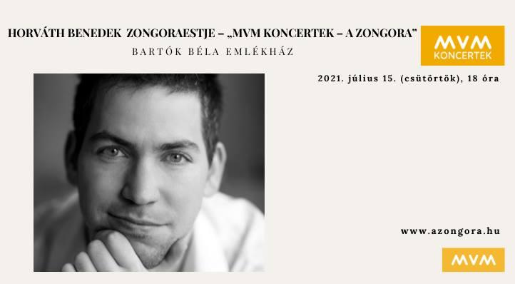 "MVM Koncertek – ""Junior Prima Díjasok hangversenysorozata"" Horváth Benedek zongoraestje"