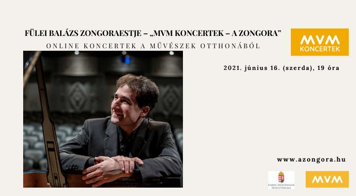"""Fülei Balázs zongoraestje – """"MVM Koncertek – A Zongora""""– Balázs-bérlet 3."""