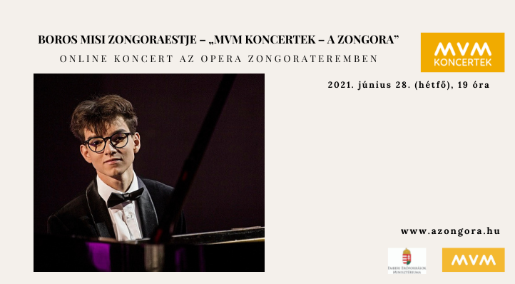 "Boros Misi zongoraestje – ""MVM Koncertek – A Zongora"""
