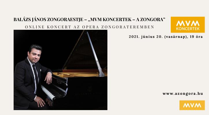 """Balázs János zongoraestje – """"MVM Koncertek – A Zongora""""– Balázs-bérlet 4."""