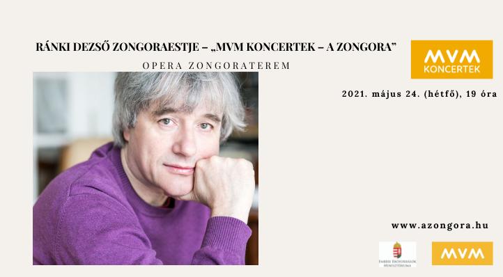 Ránki Dezső zongoraestje – Online koncert az Opera Zongorateremben (felvételről) – MVM Koncertek